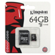 Paměťová karta Kingston micro SDHC 64GB Class 10